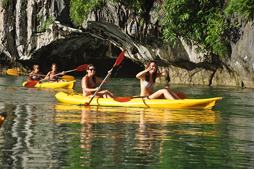 Kayaking in Bright Cave - Halong Bay Tours and Cruises 2 days 1 night