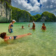 Swimming in Halong Bay - Halong tour and cruises